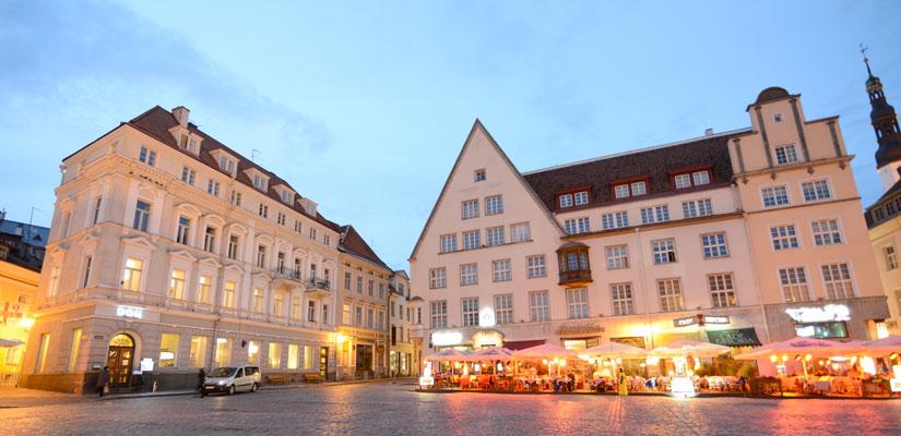 Rådhuspladsen i Tallinn centrum