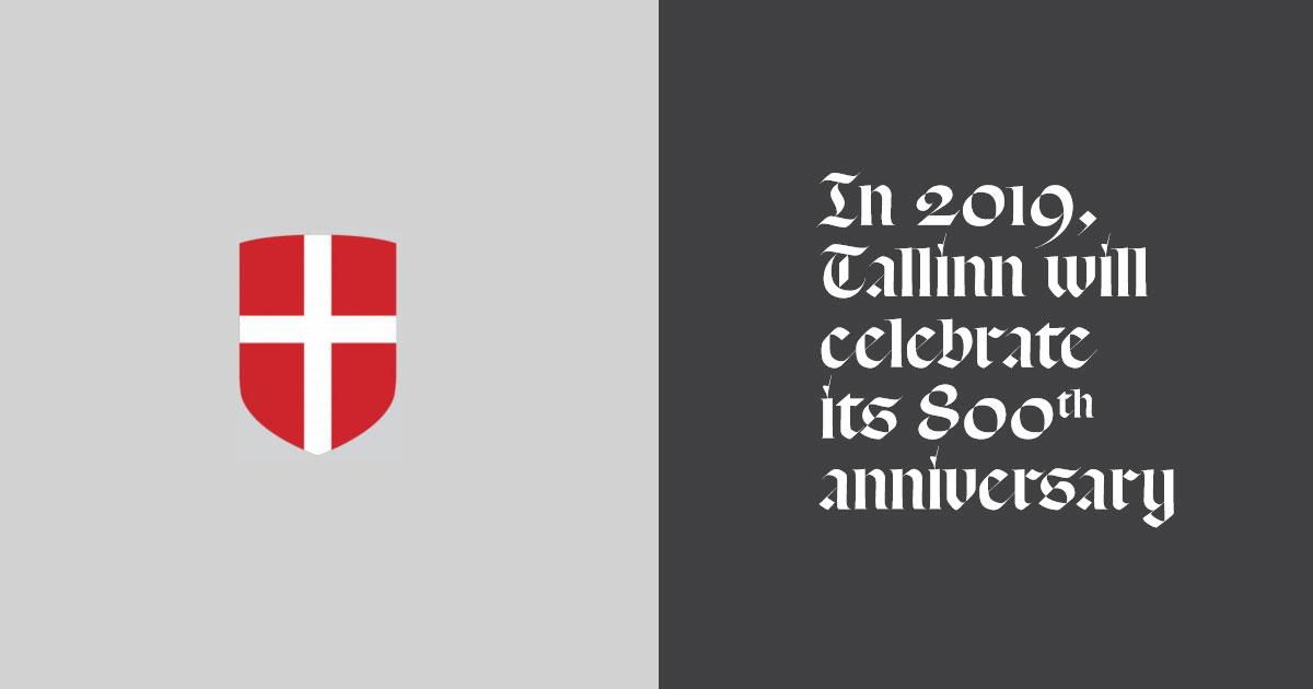 Tallinn 800 år - Dannebrog